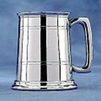 Straight Sided Pewter Tankard