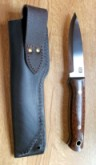 Bushcraft Knife With Snakewood Handle