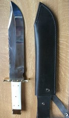 10 inch White Bone Bowie Knife