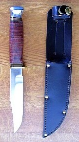 leather handle bowie knife