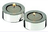 Pair Heavy Diamante Tea Light Holders