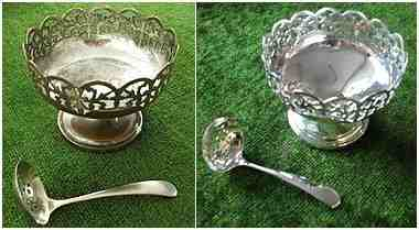 re silver plated sugar bowl